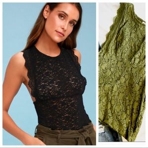 Free People Sure Thang tank in Green